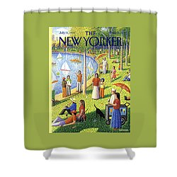 The New Yorker Cover - July 15th, 1991 Shower Curtain