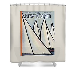 The New Yorker Cover - June 1st, 1963 Shower Curtain