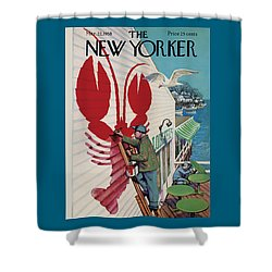 The New Yorker Cover - March 22nd, 1958 Shower Curtain