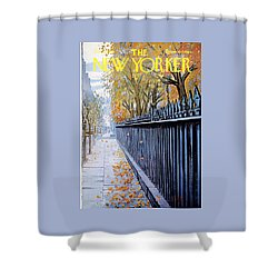 Autumn In New York Shower Curtain