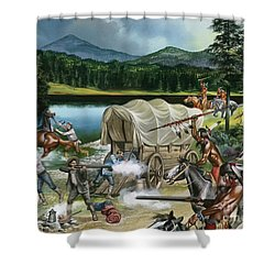 The Nez Perce Shower Curtain by Ron Embleton