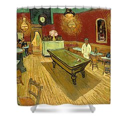 The Night Cafe Auto Contrasted Shower Curtain