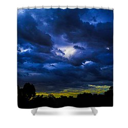 Shower Curtain featuring the photograph The Night Of The Storm by Mark Blauhoefer