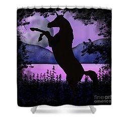 The Night Of The Unicorn Shower Curtain