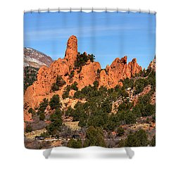 Shower Curtain featuring the photograph The High Point View by Adam Jewell