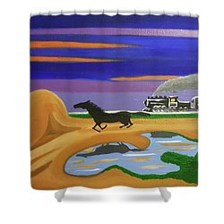The Night Race Shower Curtain