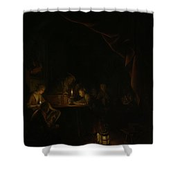 The Night School Shower Curtain by Gerard Dou