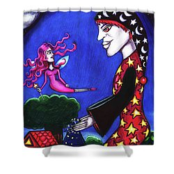 The Night Shift Sand Man Tooth Fairy Art Shower Curtain