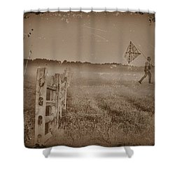 The Night They Drove Old Dixie Down Shower Curtain by Bill Cannon