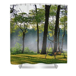 The Nights Closing In Shower Curtain