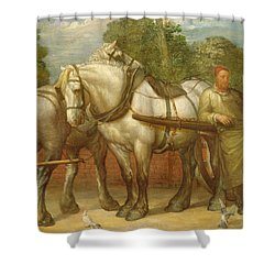 The Noonday Rest  Shower Curtain by George Frederick Watts