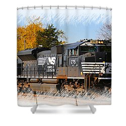 Shower Curtain featuring the photograph The Norfolk Southern by Robert Pearson