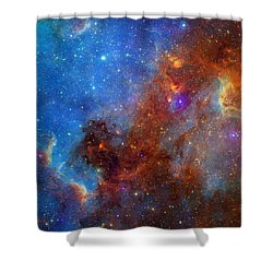 Shower Curtain featuring the photograph The North America Nebula In Different Lights by NASA JPL - Caltech
