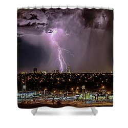 Shower Curtain featuring the photograph The North American Monsoon by Michael Rogers