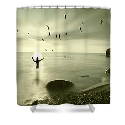 The Northern End Shower Curtain