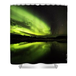 The Northern Lights Thingvellir Shower Curtain