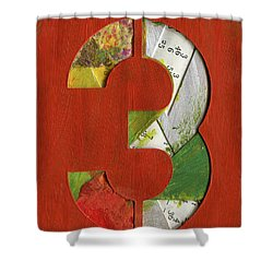 The Number 3 Shower Curtain