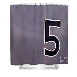 The Number 5 Shower Curtain