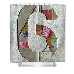 The Number 6 Shower Curtain