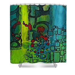 The Number Code Shower Curtain by Angela L Walker