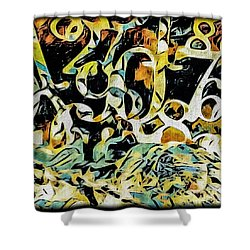 The Numbers Shower Curtain