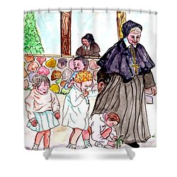 The Nuns Of St Mary's Church Shower Curtain
