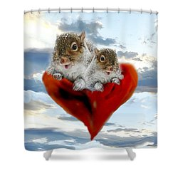 The Nuttings Are Coming Shower Curtain