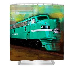 Flash II  The Ny Central 4083  Train  Shower Curtain