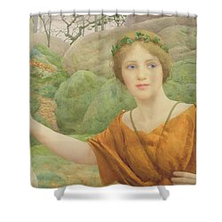 The Nymph Shower Curtain by Thomas Cooper Gotch