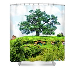 The Oak Tree At Bag End Shower Curtain