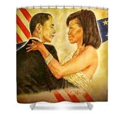 Barack And Michelle Shower Curtain