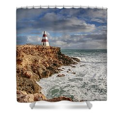 The Obelisk Shower Curtain by Kim Andelkovic