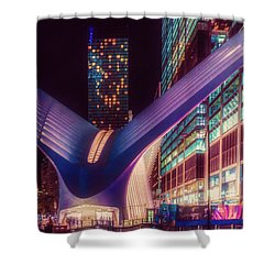 Shower Curtain featuring the photograph The Occulus At Midnight by Chris Lord