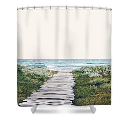 The Ocean Is Calling And I Must Go  Shower Curtain by Uma Gokhale