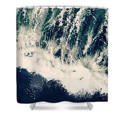 The Ocean Roars Shower Curtain