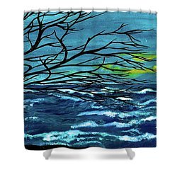 The Ocean Shower Curtain by Saribelle Rodriguez