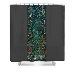 The Ocean She Shower Curtain by Dawn Fairies