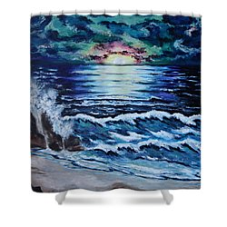 The Ocean Sings The Sky Listens Shower Curtain by Cheryl Pettigrew