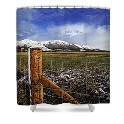 Shower Curtain featuring the photograph The Ochils In Winter by Jeremy Lavender Photography