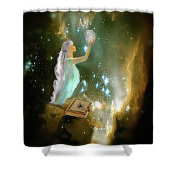 The Offering 1 Shower Curtain by Julie Grace