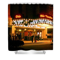 The Ohio Theater At Night Shower Curtain