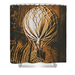 The Old Airship Shower Curtain
