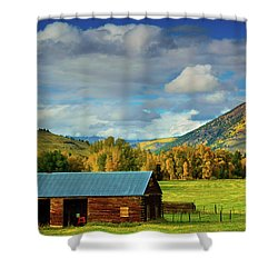 The Old Barn Shower Curtain by John De Bord