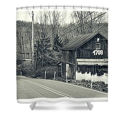 Shower Curtain featuring the photograph The Old Barn by Mark Dodd