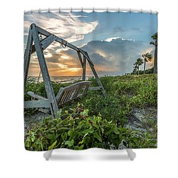 The Old Beach Swing -  Sullivan's Island, Sc Shower Curtain