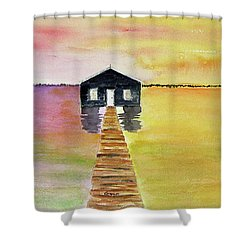 The Old Boat Shed Shower Curtain