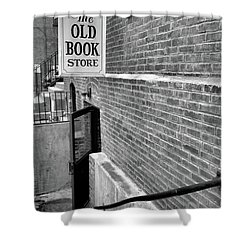 Shower Curtain featuring the photograph The Old Book Store by Karol Livote