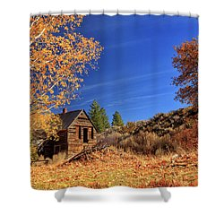 The Old Bunkhouse Landscape Shower Curtain by James Eddy