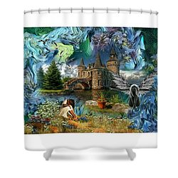 The Old Castle Shower Curtain