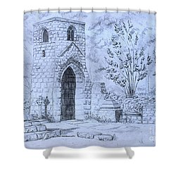 The Old Chantry Shower Curtain